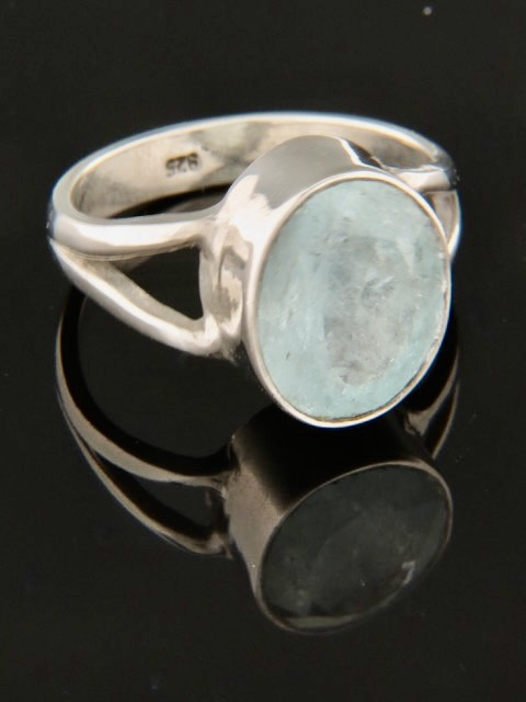 Aquamarine Ring - Sterling Silver - AQ101R
