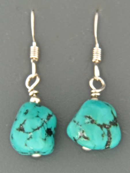Turquoise Earrings - Sterling Silver - TQ535