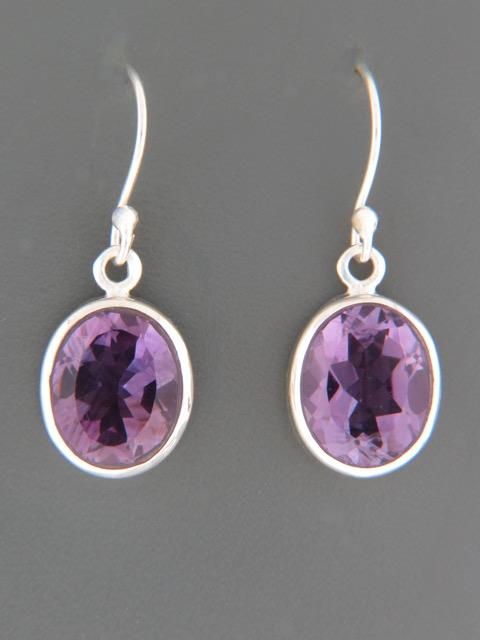 Amethyst Earrings - Sterling Silver - A523