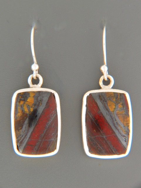 Tiger Iron Earrings - Sterling Silver - TI500