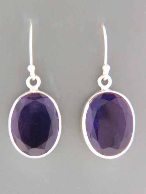 Amethyst Earrings - Sterling Silver - A519