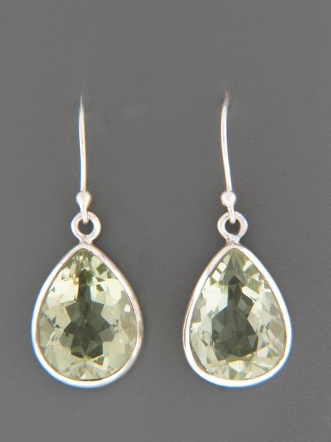 Prasiolite (Green Amethyst) Earrings -Sterling Silver - PRA501