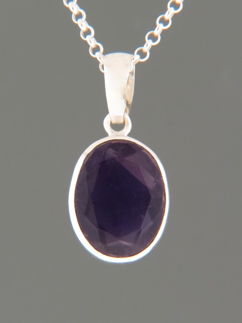 Amethyst Pendant - Sterling Silver - A358