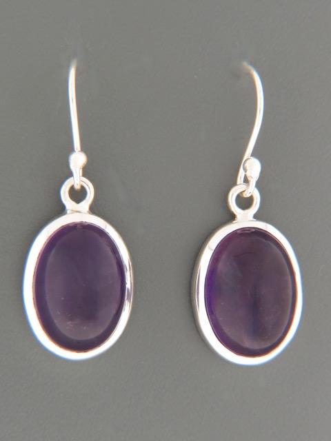 Amethyst Earrings - Sterling Silver - A524