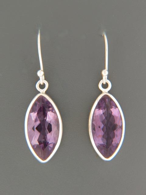 Amethyst Earrings - Sterling Silver - A501