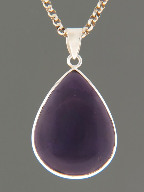 Amethyst Pendant - Sterling Silver - A351