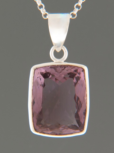 Amethyst Pendant - Sterling Silver - A325