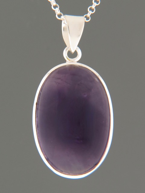 Amethyst Pendant -Sterling Silver - A353