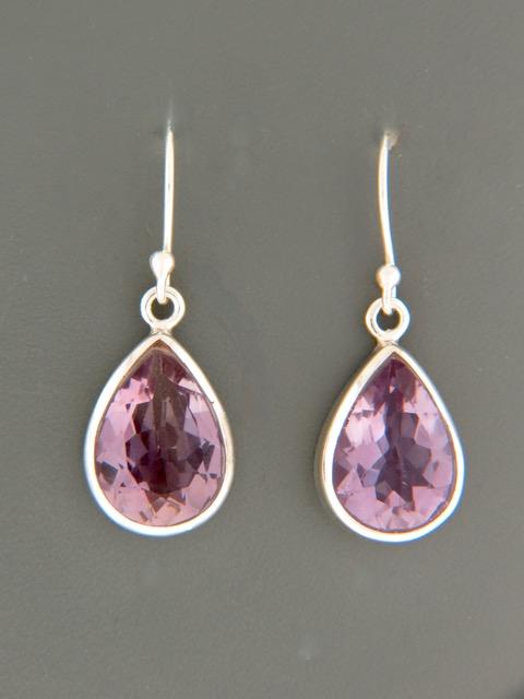 Amethyst Earrings - Sterling Silver - A518