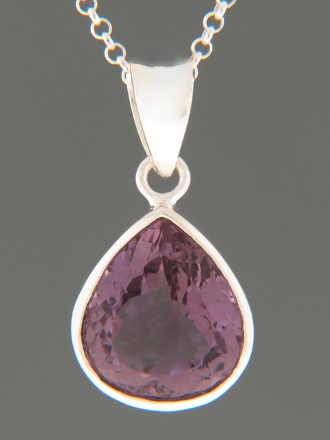 Amethyst Pendant - Sterling Silver - A336
