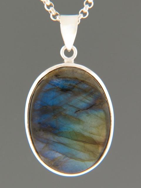 Labradorite Pendant - Sterling Silver - LAB310