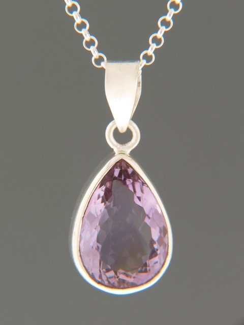 Amethyst Pendant - Sterling Silver - A349
