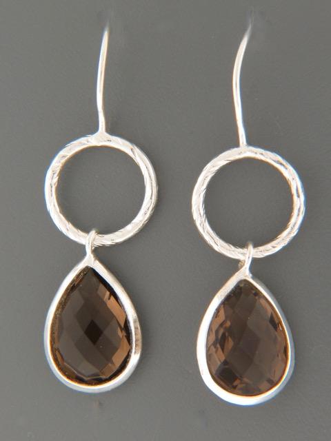 Smokey Quartz Earrings - Sterling Silver - SQ503