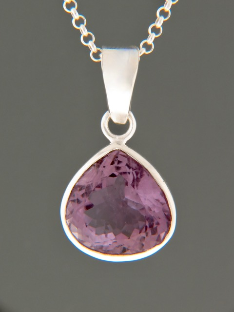 Amethyst Pendant - Sterling Silver - A360