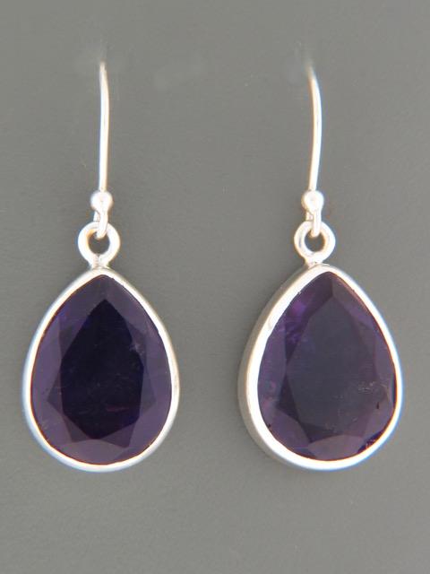 Amethyst Earrings - Sterling Silver - A521