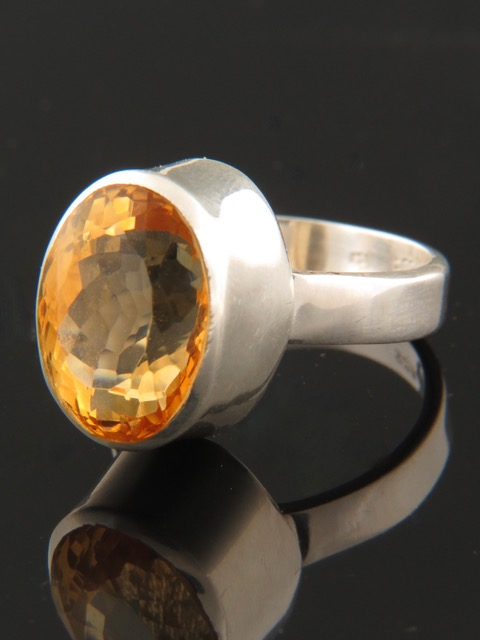 Citrine Ring - Sterling Silver - C108R