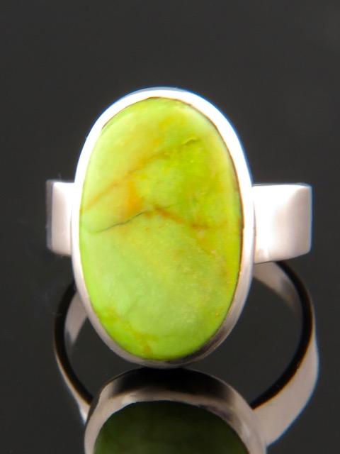 Gaspeite Ring - Sterling Silver - GA101R