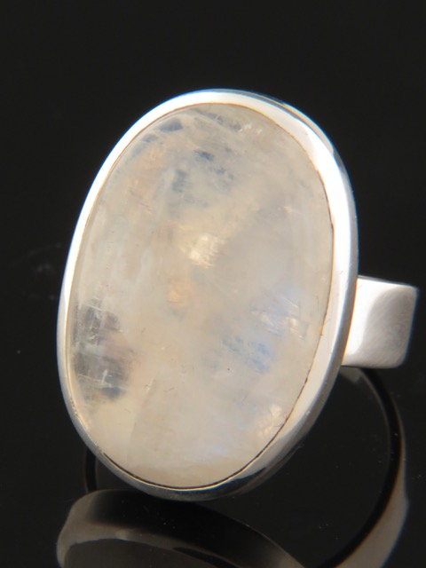 Moonstone Ring - Sterling Silver - MS108R