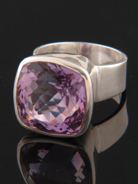 Amethyst Ring - Sterling Silver - A120R
