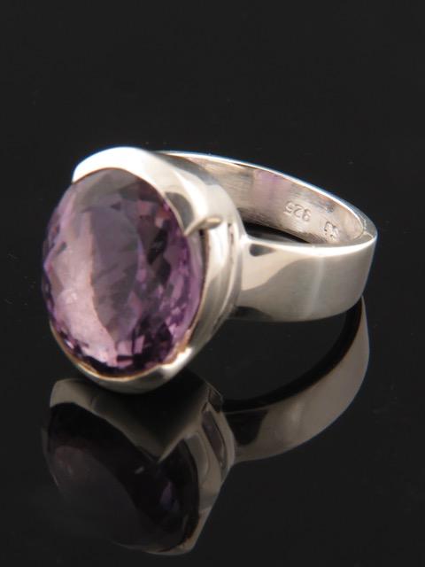 Amethyst Ring - Sterling Silver - A121R