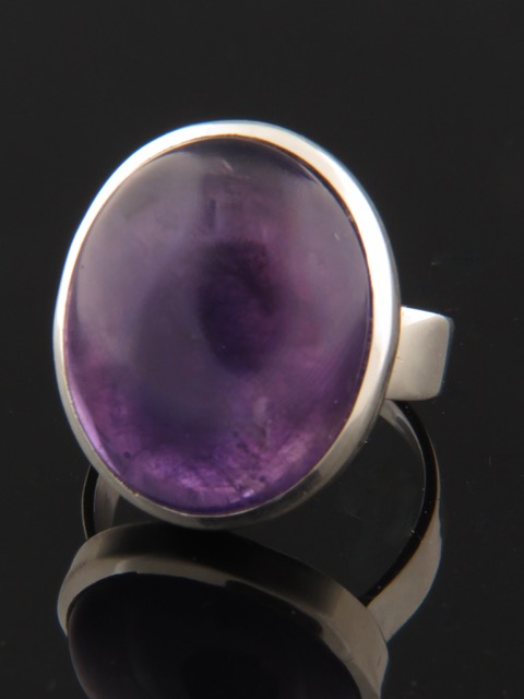 Amethyst Ring - Sterling Silver - A100R