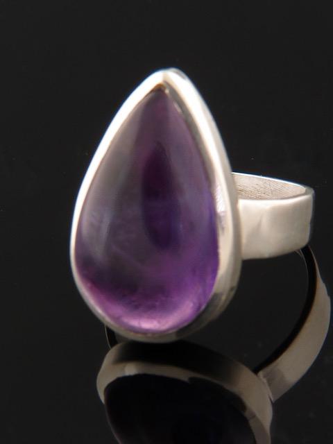 Amethyst Ring - Sterling Silver - A111R