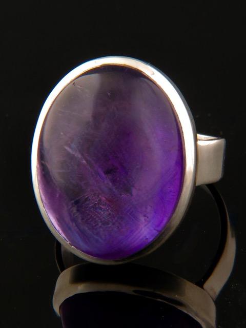 Amethyst Ring - Sterling Silver - A114R