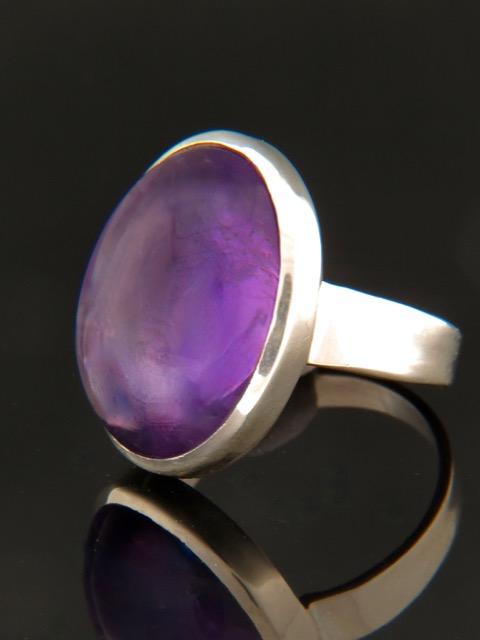 Amethyst Ring - Sterling Silver - A104R