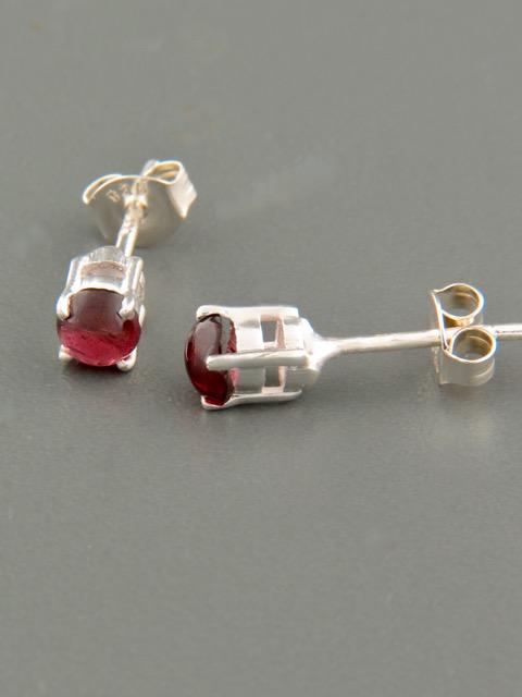 Pink Tourmaline Earrings - Sterling Silver stud - 4.5mm stones - T506
