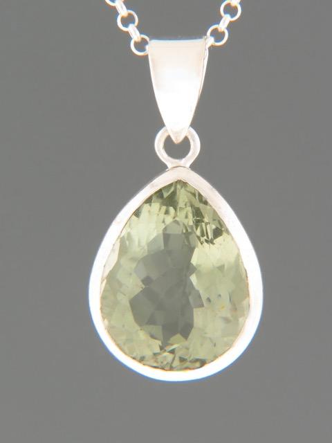 Prasiolite (Green Amethyst) Pendant - Sterling Silver - PRA301
