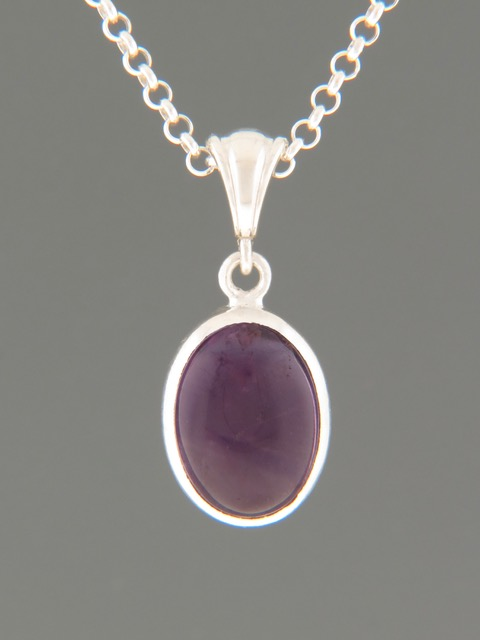 Amethyst Pendant - Sterling Silver - A365
