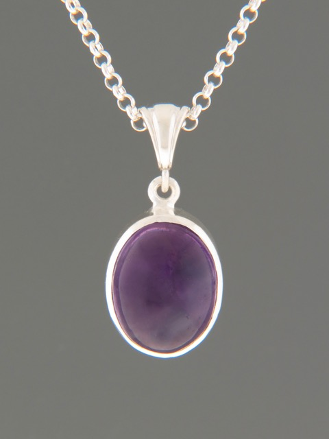 Amethyst Pendant - Sterling Silver - A364