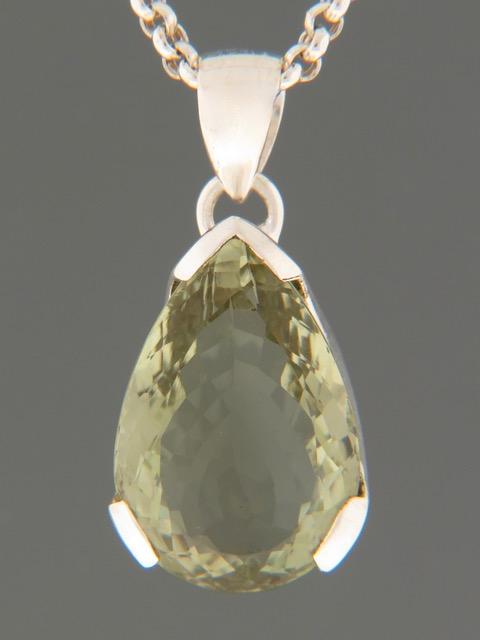 Prasiolite (Green Amethyst) Pendant - Sterling Silver - PRA303